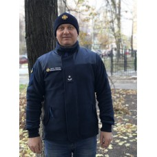 Кофта  флис темно-синяя МЧС ДСНС ДСТУ